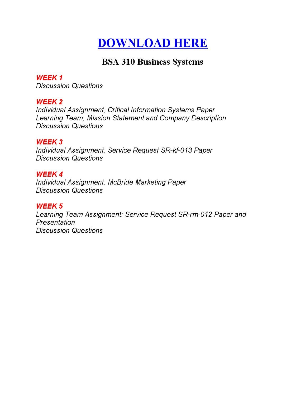 service request sr rm 012 paper and presentation How to create a capstone paper step by step - this presentation is a step by step 2 bsa 310 week 5 team assignment service request sr-rm-012 paper and.