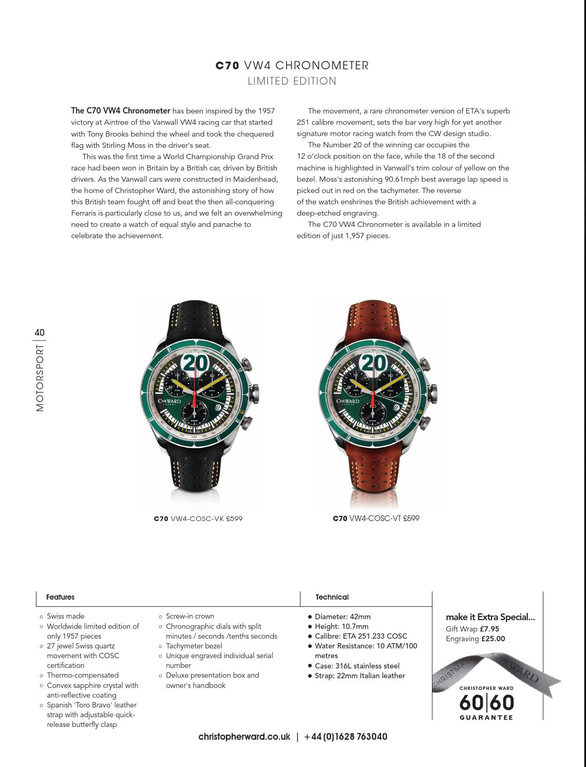 Christopher Ward 2014 Catalogue by Christopher Ward - issuu
