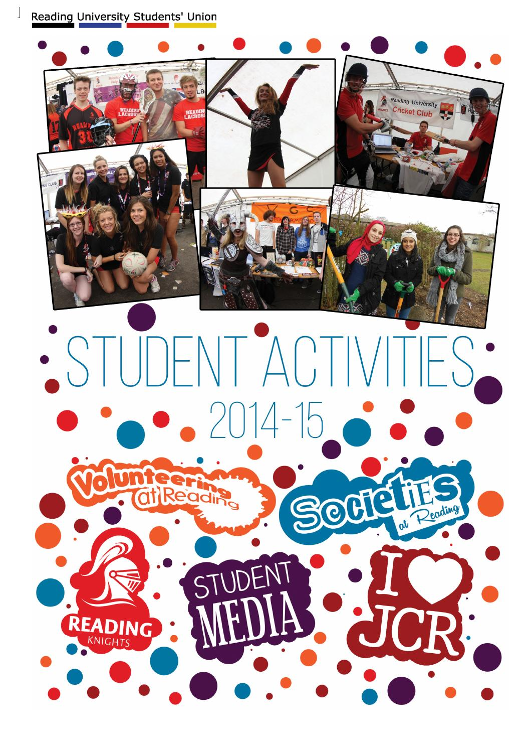 Student Activities Booklet 2014 - 15 by Reading University Students ...