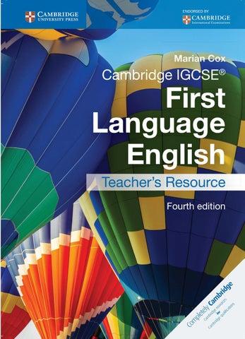 366dde8d59d72b Preview Cambridge IGCSE First Language English Teacher's Resource Fourth  Edition