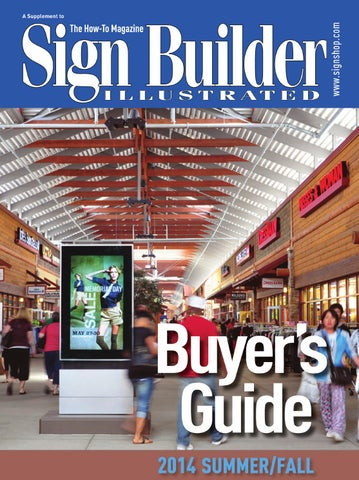 Sign Builder Buyer's Guide Summer/Fall 2014 by Sign Builder