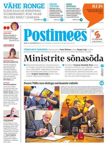 250265f1b20 Postimehe paberleht 24 10 2014 by Postimees - issuu