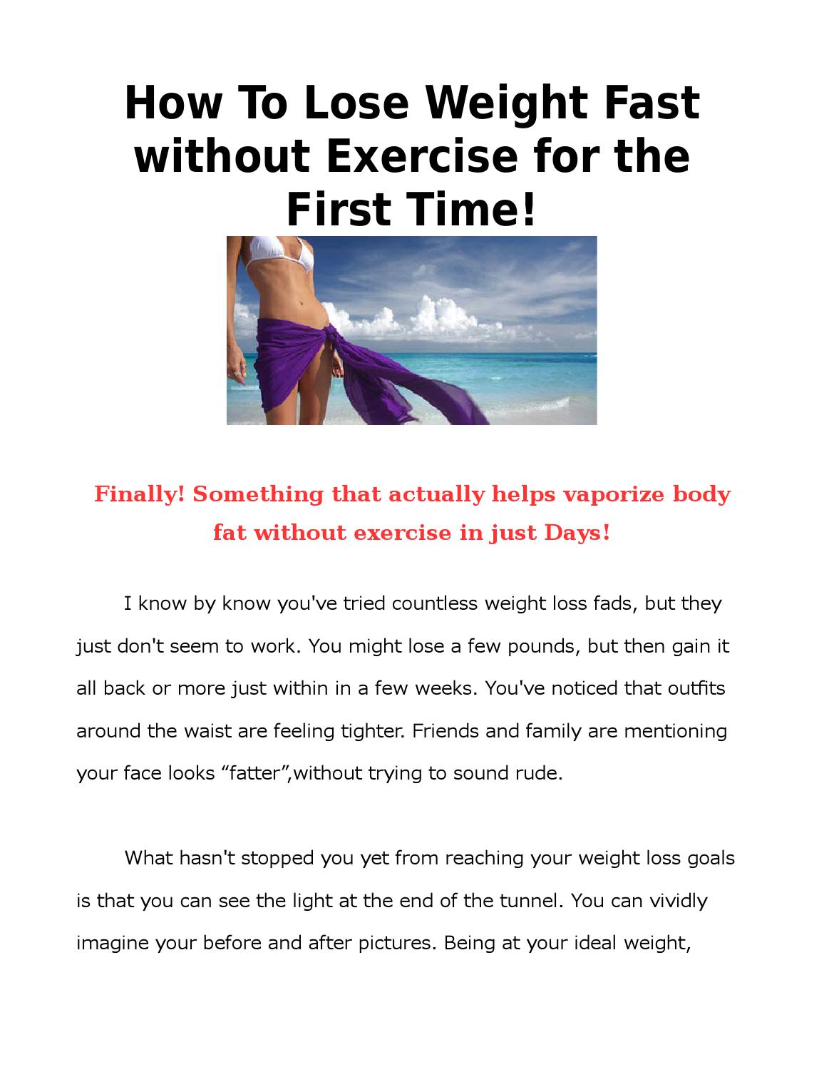 How To Lose Weight Without Exercise For The First Timehow To Lose Weight Without Exercise By Jacob Cruz Issuu