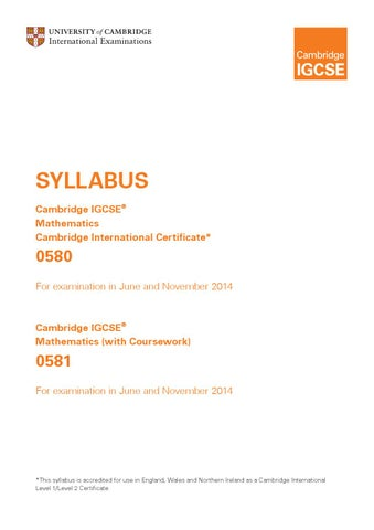 Igcse math with 2014 syllabus by YWIES - issuu