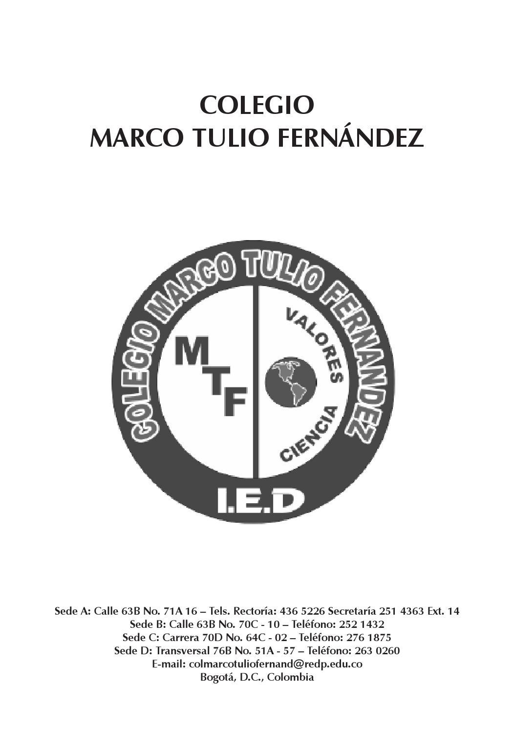 Manual de convivencia colegio Marco Tulio Fernández by Colegio Marco ...