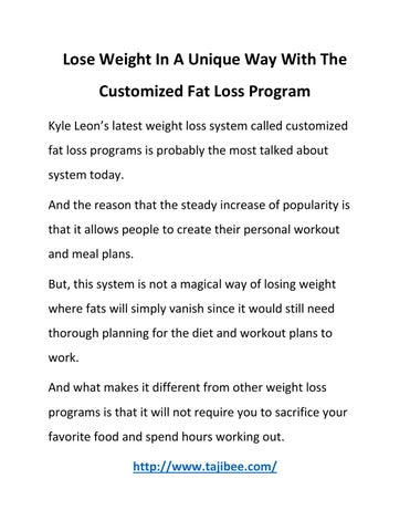 That Fat loss work programs