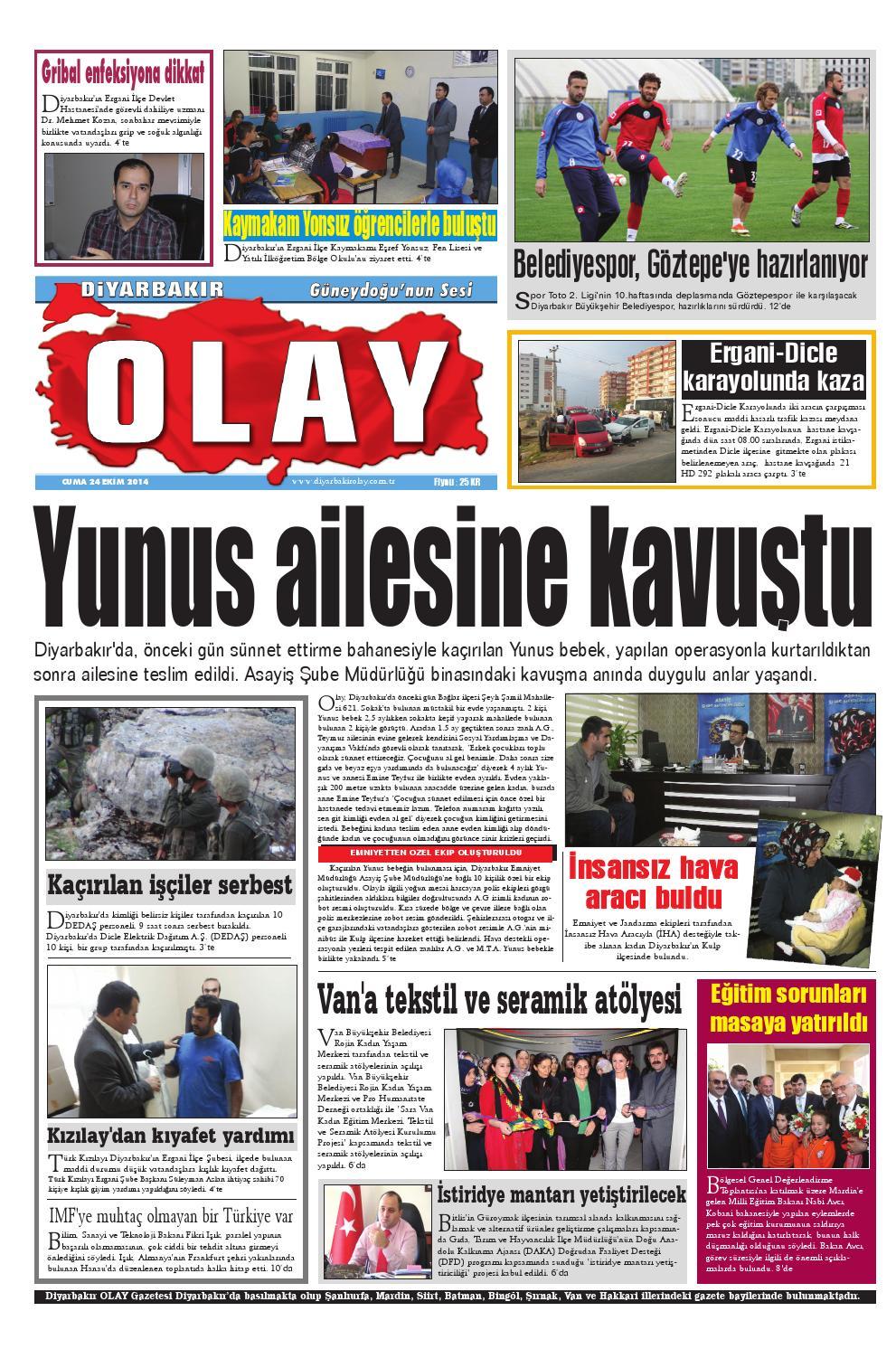 24 10 2014 Gazete Sayfalari By Diyarbakir Olaygazetesi Issuu