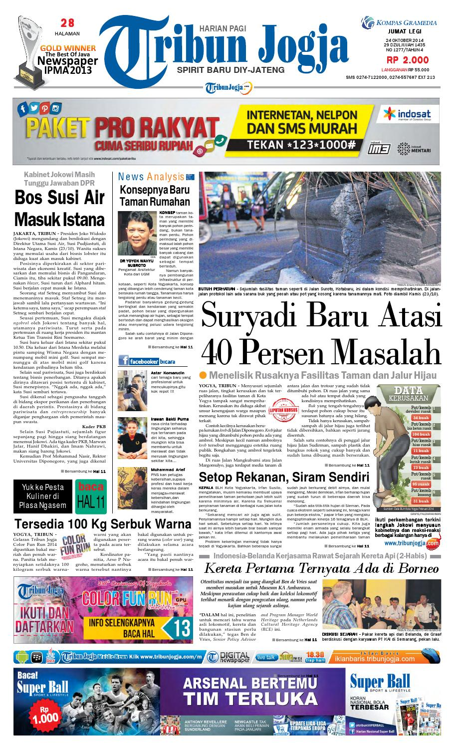 Tribunjogja 24 10 2014 By Tribun Jogja Issuu Produk Ukm Bumn Rasa Dewa Sari Buah Mbing 250ml Jus Free Ongkir Depok Ampamp Jakarta