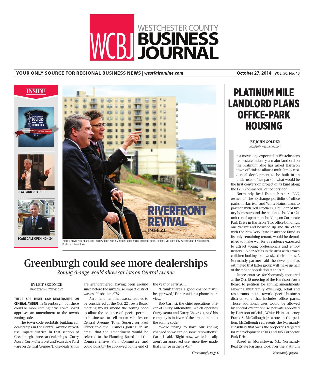 Westchester County Business Journal 102714 By Wag Magazine