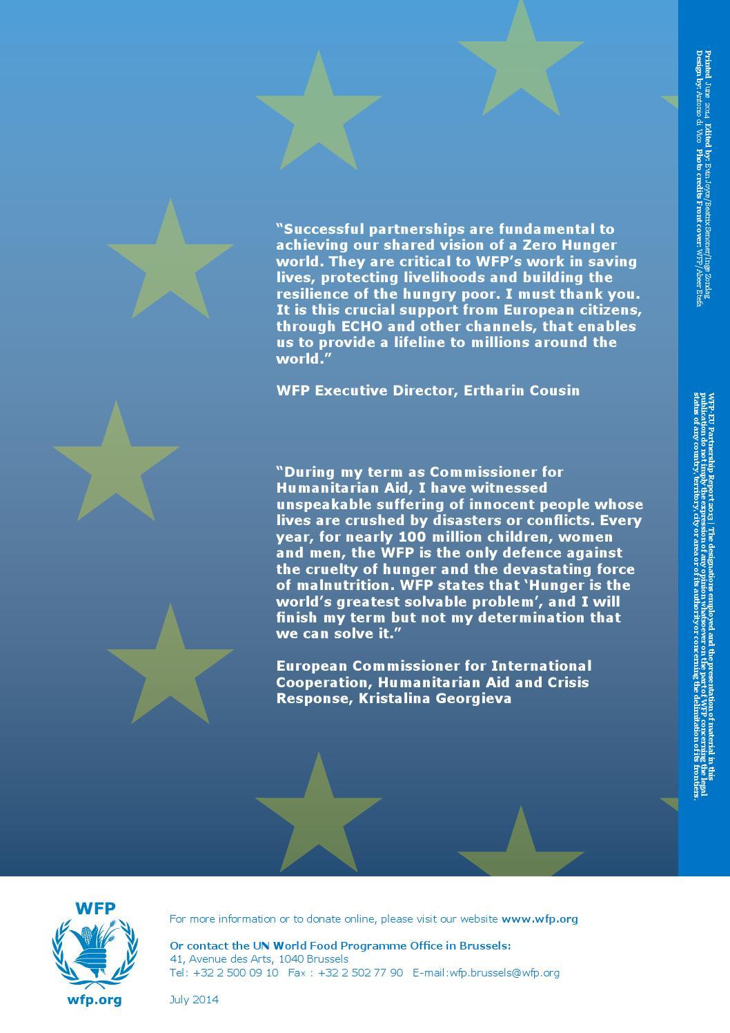 2013 wfp eu brochure by United Nations - issuu