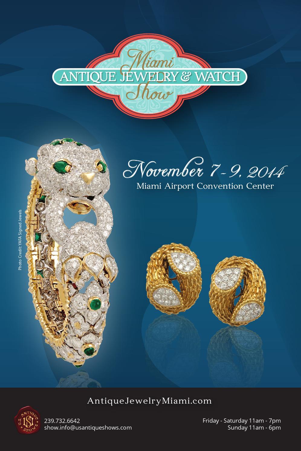 2014 miami antique jewelry watch show directory by u s for Miami beach jewelry watch show