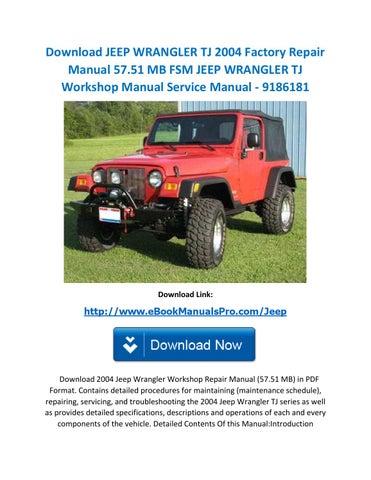 2004 jeep wrangler service manual today manual guide trends sample u2022 rh brookejasmine co 1999 jeep wrangler tj service manual pdf jeep wrangler tj workshop manual