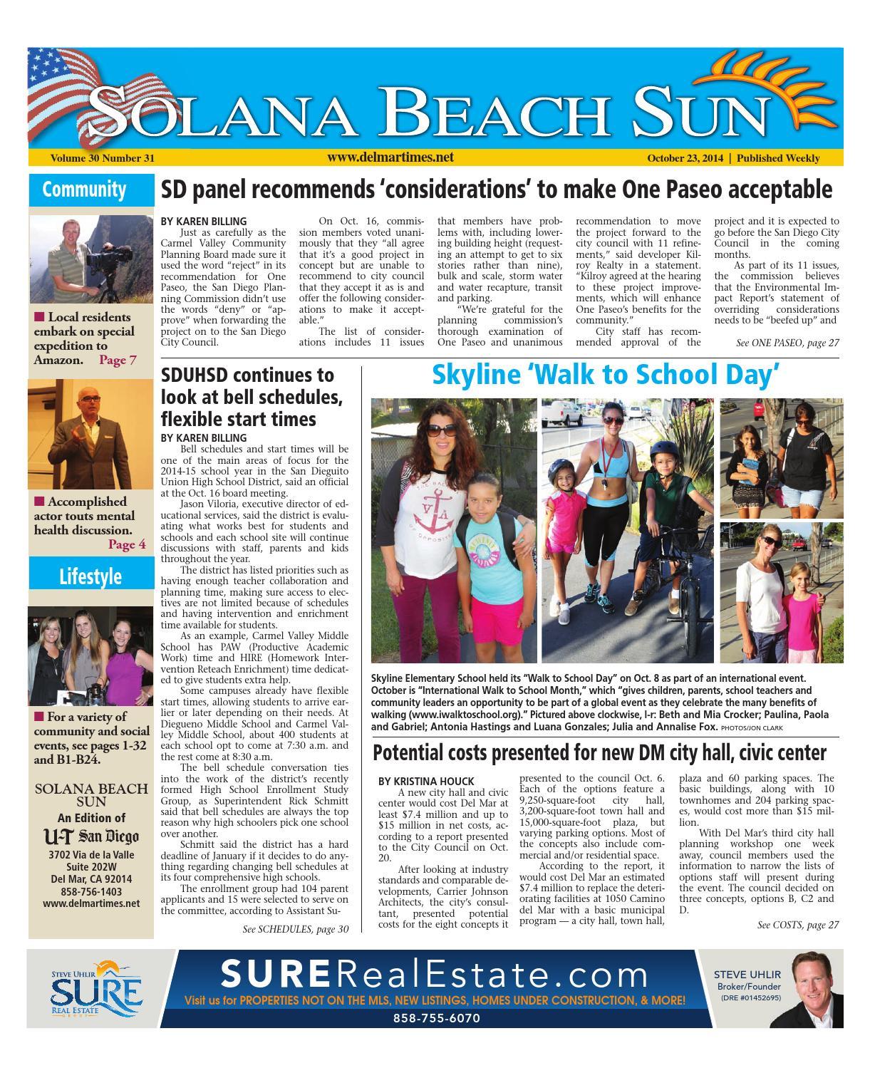 Solana beach sun 10 23 14 by mainstreet media issuu aiddatafo Choice Image