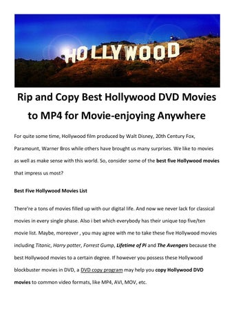 Copy hollywood movie to mp4 by amigabit - issuu