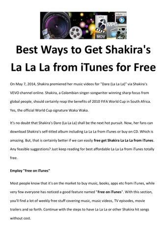 Free get shakira la la la from itunes by amigabit - issuu