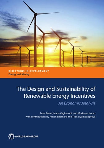 the design and sustainability of renewable energy incentives by