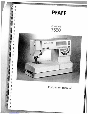 Pfaff creative 7550 service manual.