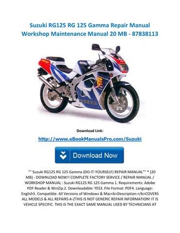 download now suzuki rgv125 rgv 125 service repair workshop manual