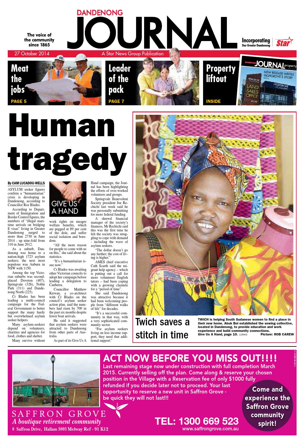 Dandenong Journal Star 27th October 2014 By Star News Group Issuu