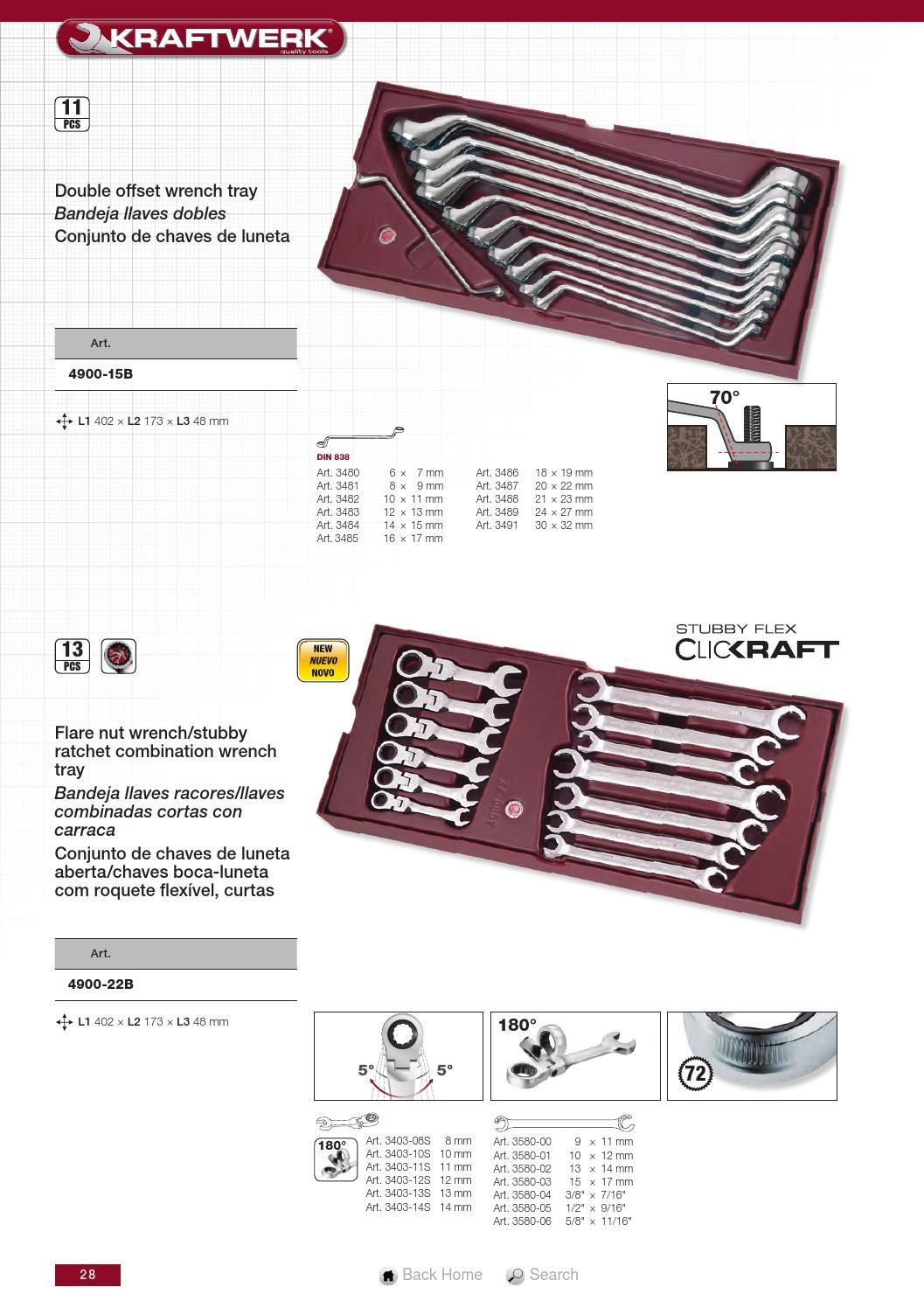 Llave racores 15 x 17 mm KRAFTWERK 3580-03