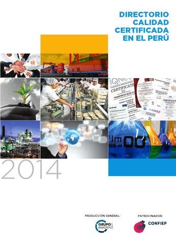 Directorio Calidad Certificada En El Peru 2014 By Grupo Imagen Sac