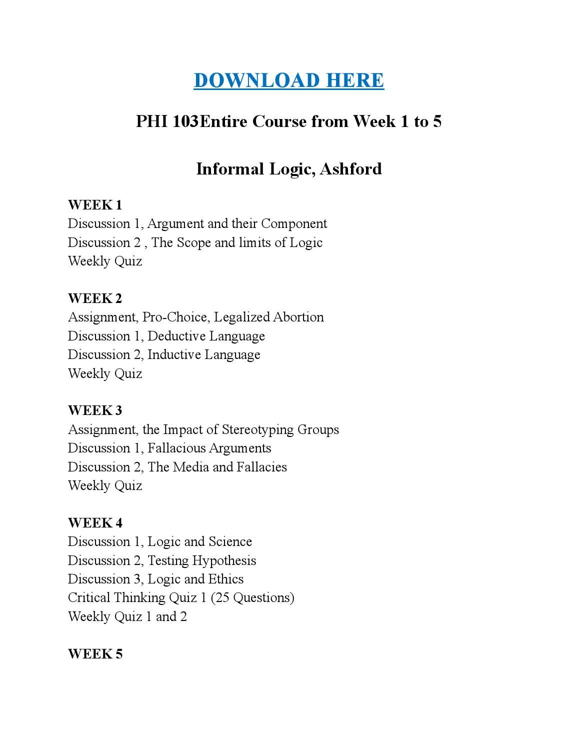 phi 103 informal logic Can one be moral and not believe in god name: course: phi 103 informal logic  instructor: jennifer creekmore date: may 6,2013 can one be.