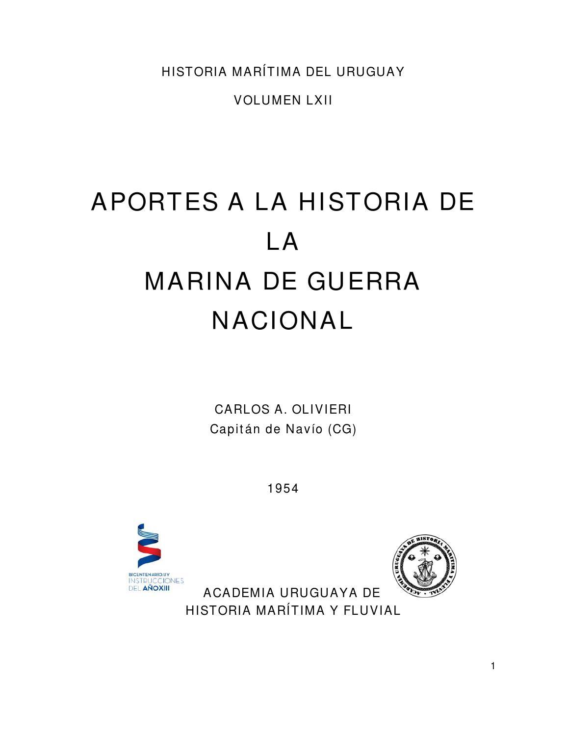 Aportes a la historia de la marina de guerra nacional ROU by ...