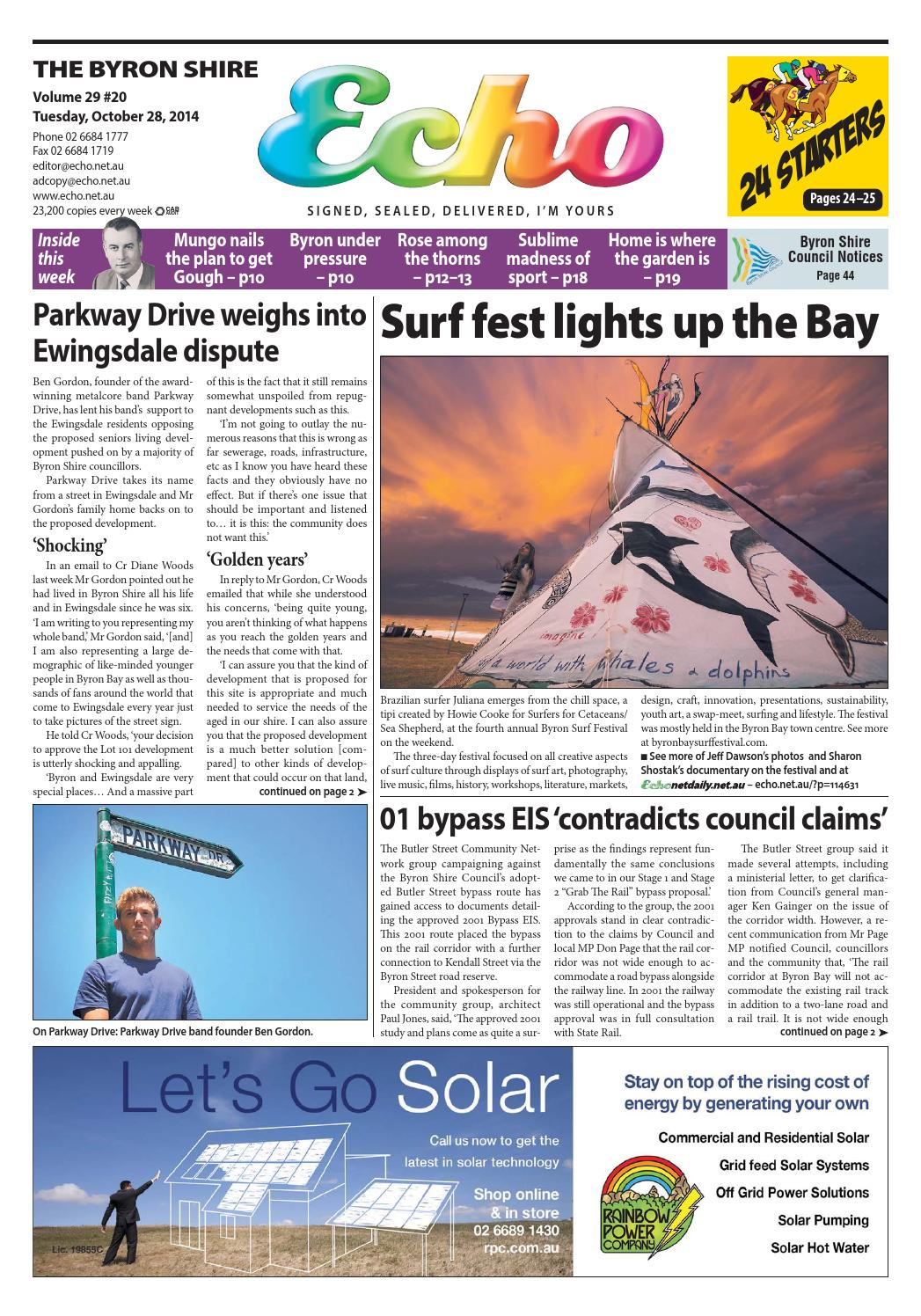 Byron Shire Echo Issue 2920 28 10 2014 By Publications Issuu 19a Power Supply Circuit Free Electronic Circuits 8085 Projects