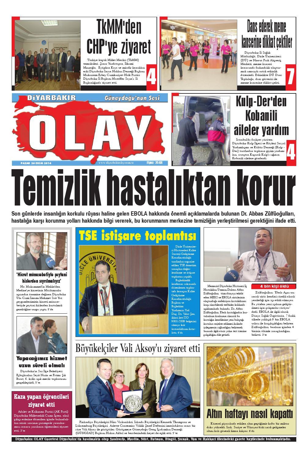 26 10 2014 Gazete Sayfalari By Diyarbakir Olaygazetesi Issuu