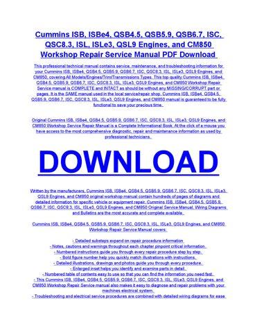 cummins service manual pdf download