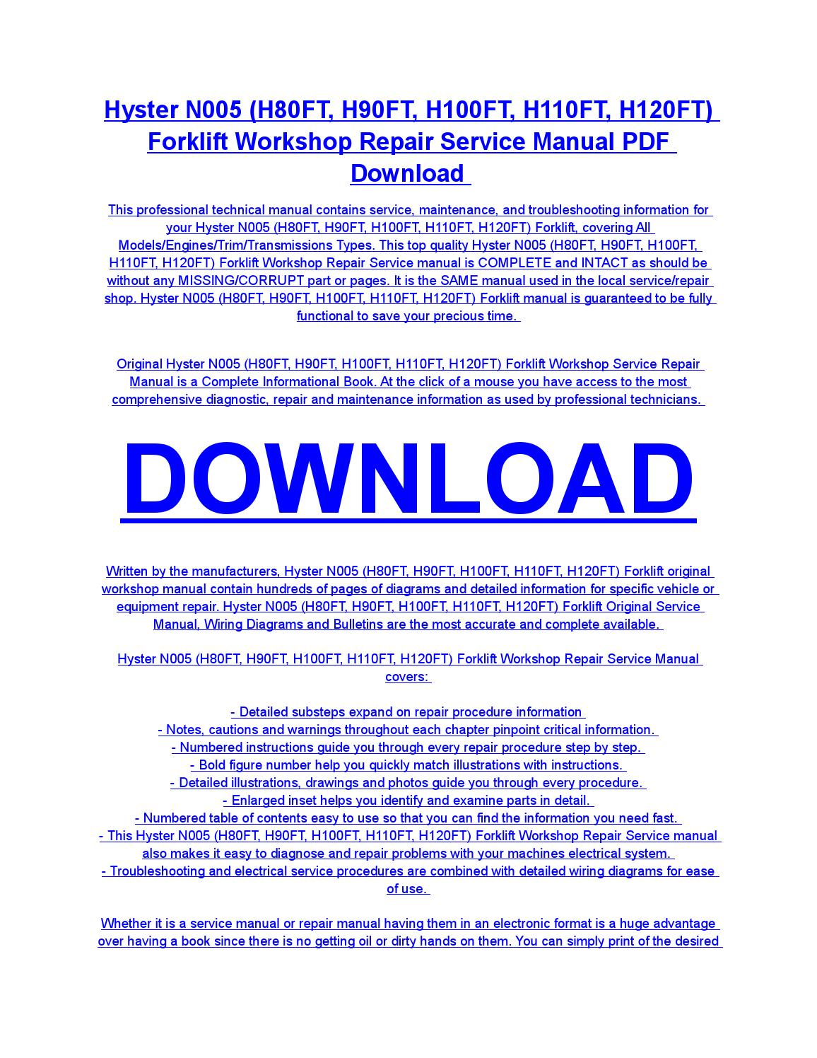 Hyster H100ft Fault Code List Wiring Diagram For 50 Forklift Forklifts Amp Materials Handling Equipment