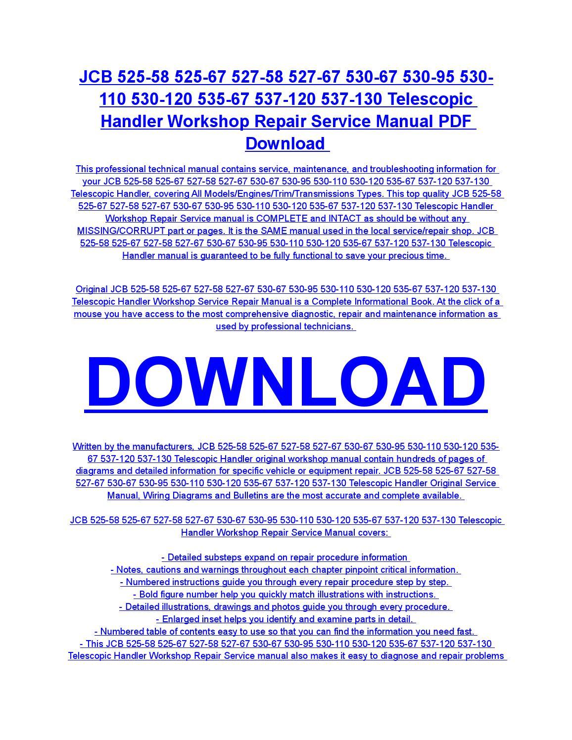 Jcb 525 58 525 67 527 58 527 67 530 67 530 95 530 110 530 120 535 67 537  120 537 130 telescopic hand by diaz rondon - issuu