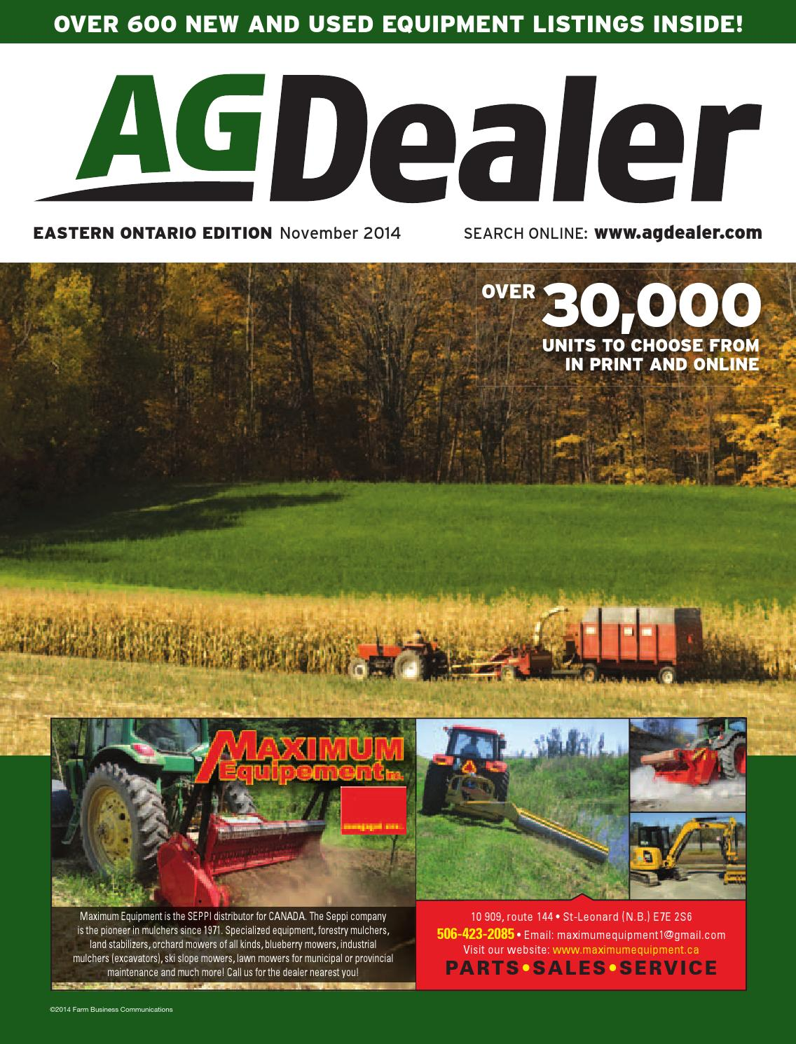 AGDealer Eastern Ontario Edition, November 2014
