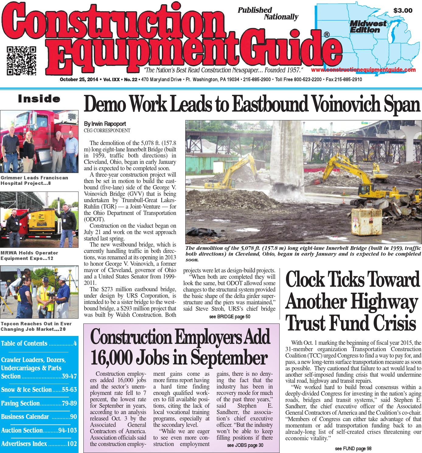 Midwest 22 2014 By Construction Equipment Guide Issuu Volvo L50d Loader Wiring Diagram