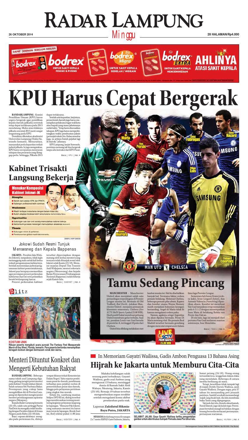 Radar Lampung Minggu 26 Oktober 2014 By Ayep Kancee Issuu Celana Bahan Remaja Dik Ary Collection Bdg