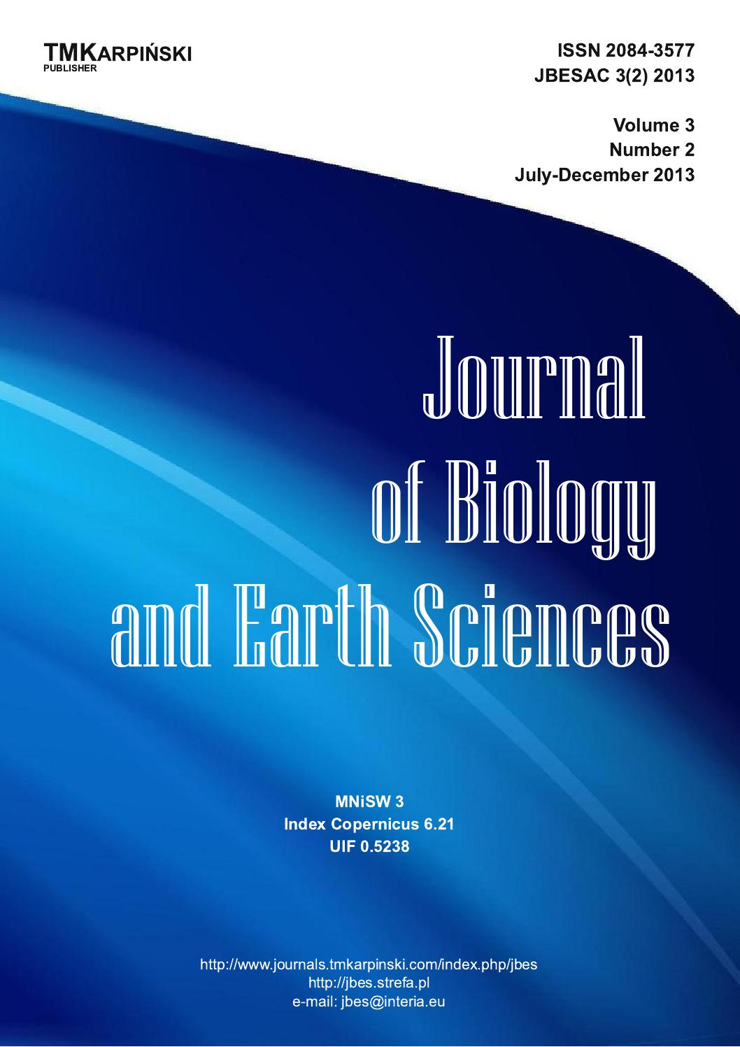 Jbes2013v3i2 full issue100 by TMKarpiski Publisher