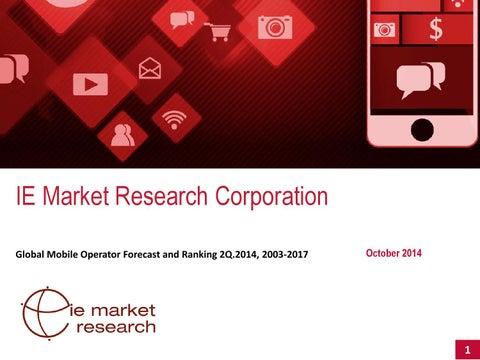 Global mobile operator forecast 2Q 2014 presentation, 2003