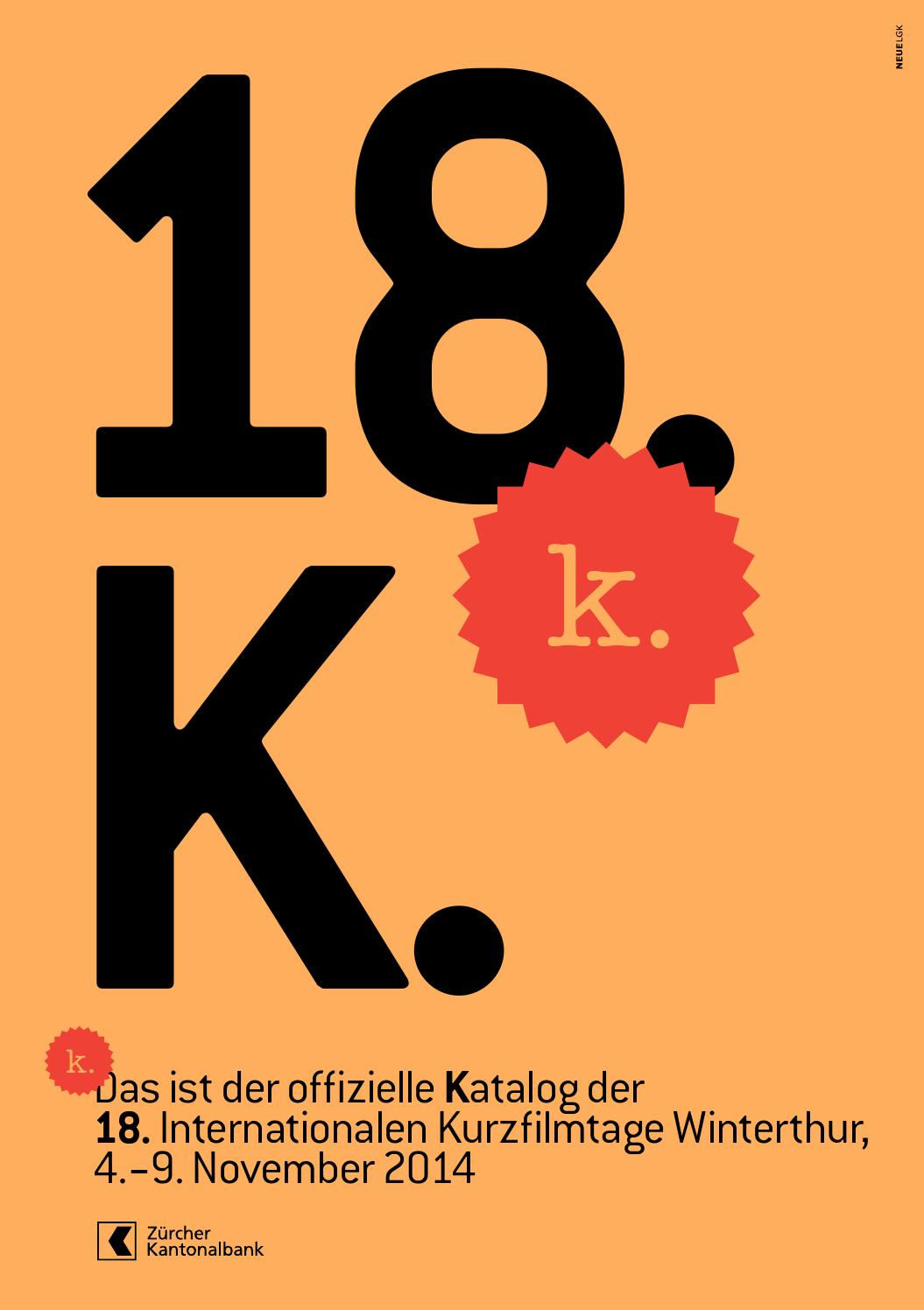 Katalog – 18. Internationale Kurzfilmtage Winterthur by Int ...