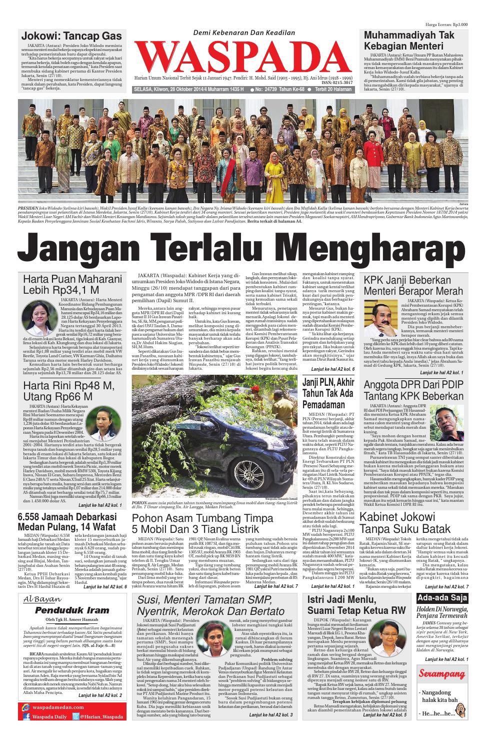Waspada Selasa 28 Oktober 2014 By Harian Waspada Issuu