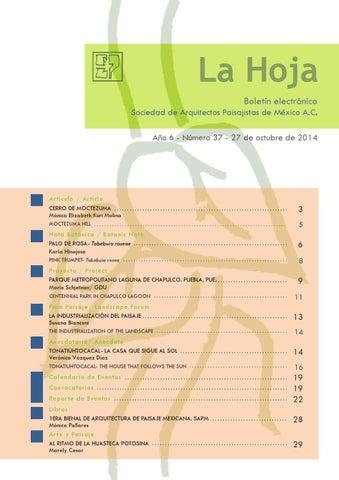 LA HOJA #37- Octubre 2014 by LA HOJA -SAPM - issuu