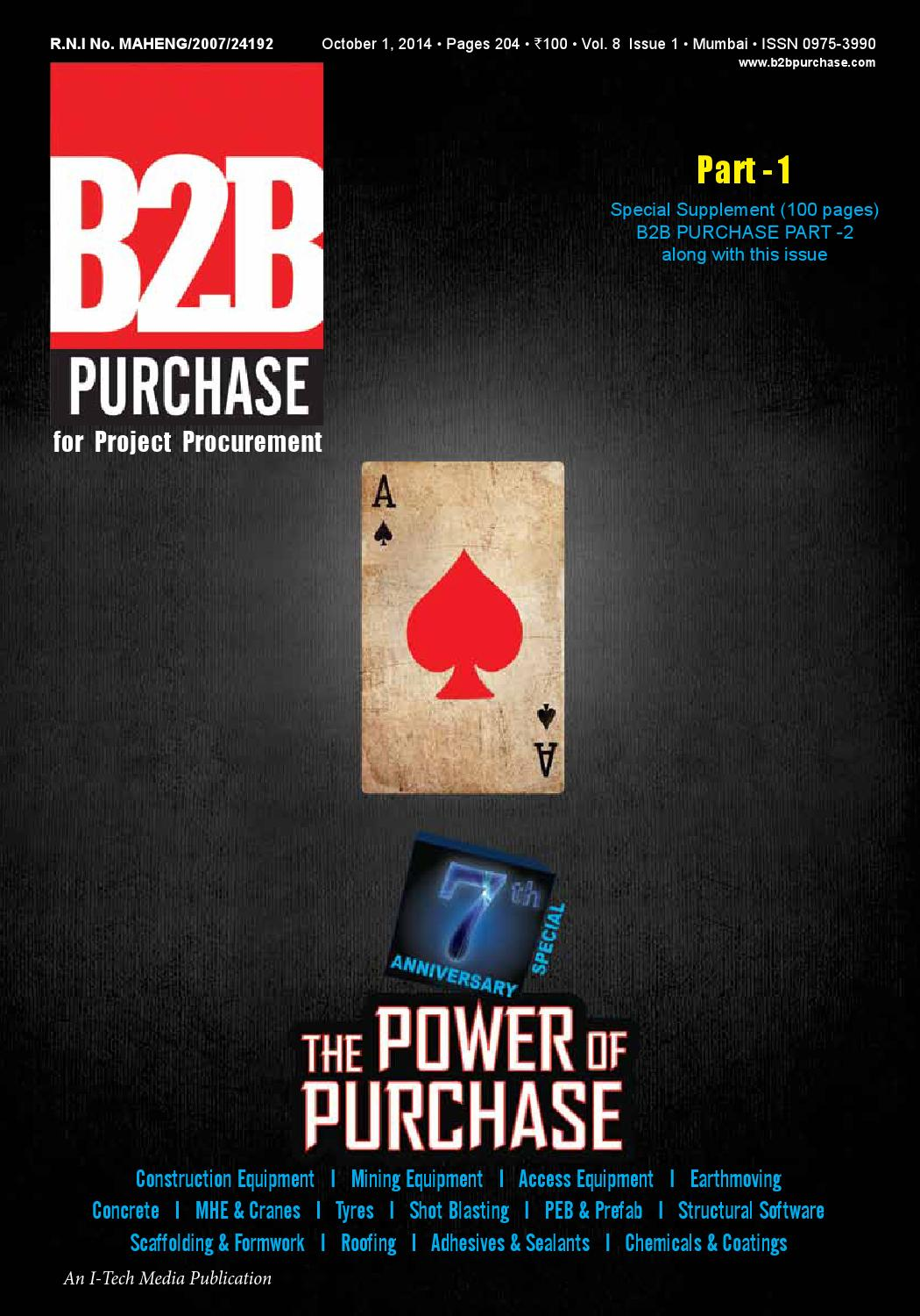 B2B Purchase October 2014 Part 1 by I-Tech Media Pvt Ltd - issuu