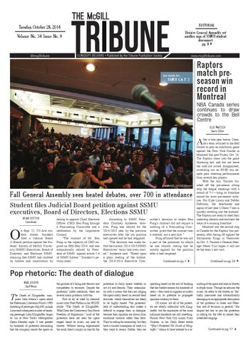 Mcgill tribune vol 34 issue 9 by the mcgill tribune issuu page 1 fandeluxe Image collections