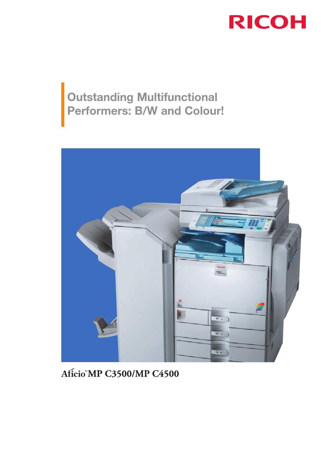 Ricoh Aficio MP C3500 Multifunction PCL6 XP