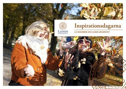 Inspirationsdagarna Vid Lunds Universitet 2014 Program Och Karta
