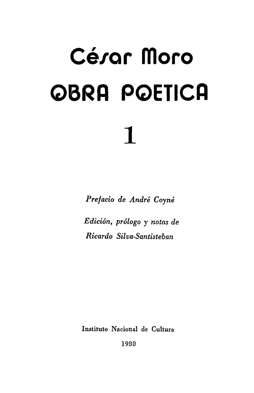 237170298 104644514 Cesar Moro Obra Poetica 1 1980 By