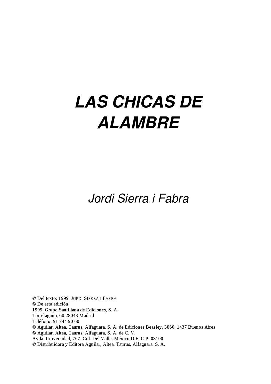 Las chicas de alambre by Tamara Peralta - issuu