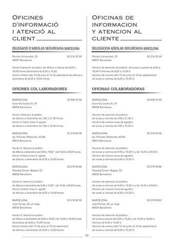 Cuadro Medico Adeslas Barcelona By Esther Lopez Issuu