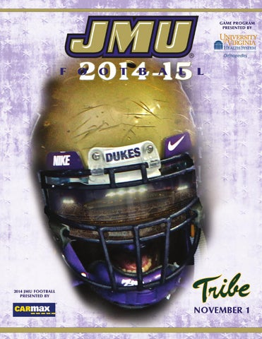 3999f0bbf8b 2014 JMU Football Game Program - William & Mary by James Madison ...