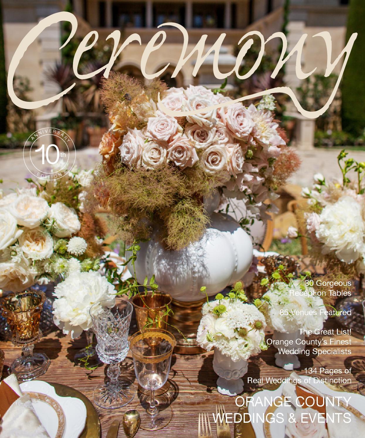 Ceremony Magazine 2014 Orange County By Ceremony Magazine