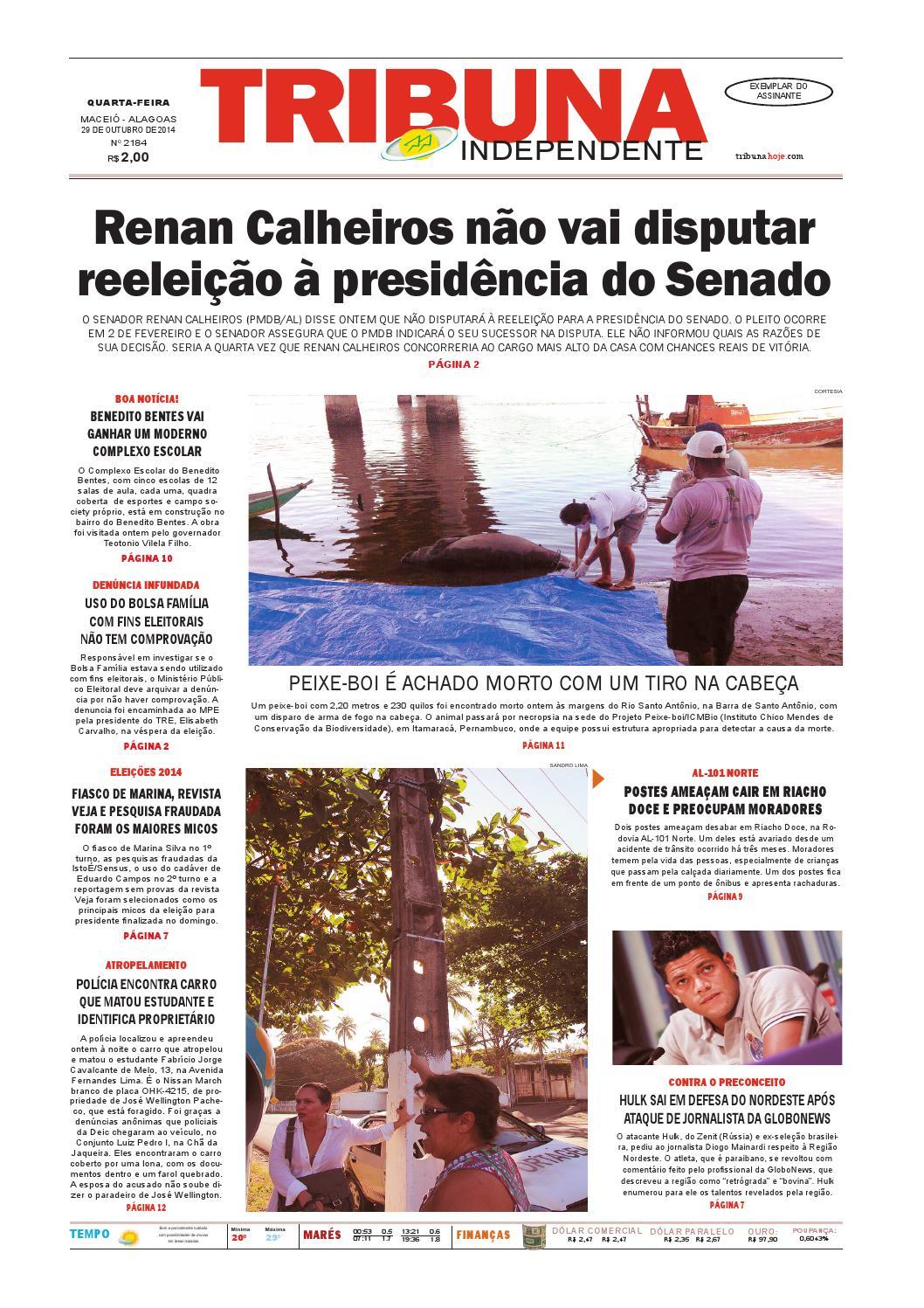 c7734317736 Edição número 2184 - 29 de outubro de 2014 by Tribuna Hoje - issuu
